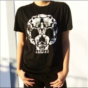 LOOT CRATE Death by Kittens Skull tee shirt
